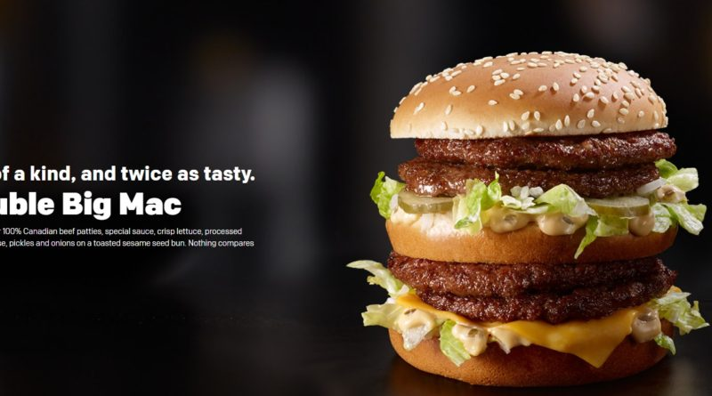McDonald's Double Big Mac UK