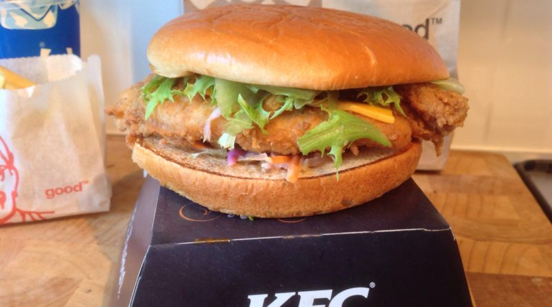 KFC Ultimate Pulled Chicken Burger
