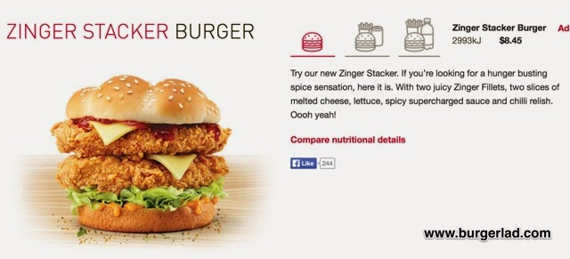 KFC Secret Menu Zinger Stacker