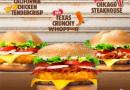 Burger King Promotional Burgers 2015