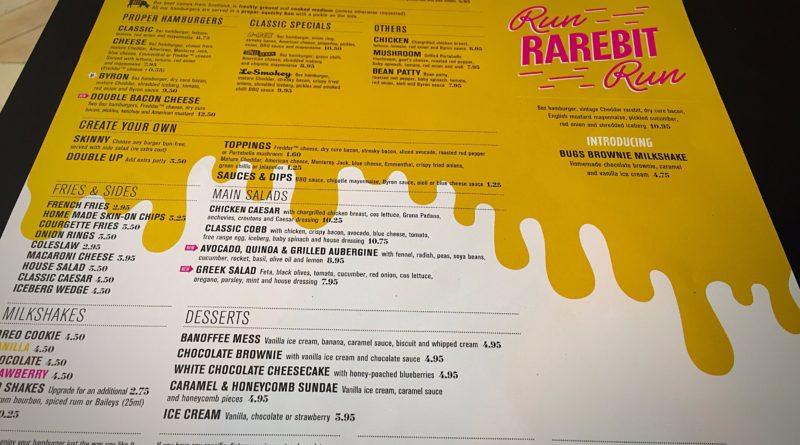 Byron Burgers Run Rarebit Run