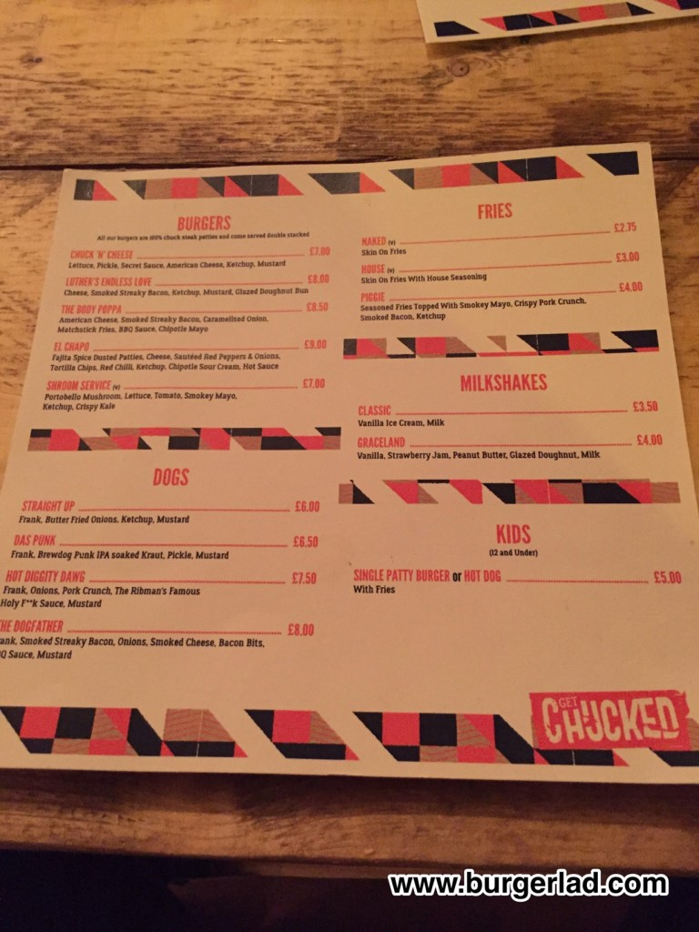 Review of Get Chucked, Urmston - The Body Poppa Burger Review