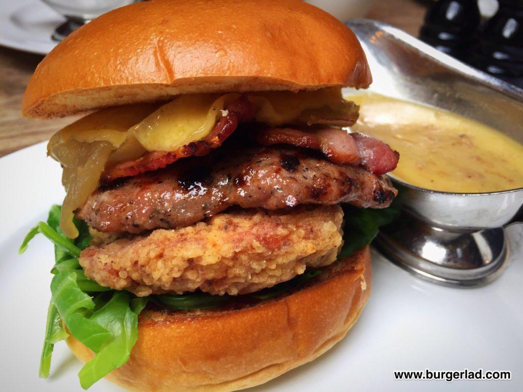 Hawksmoor Christmas Burger 2016