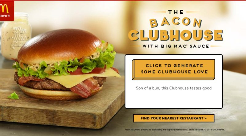 McDonald's Bacon Clubhouse Double