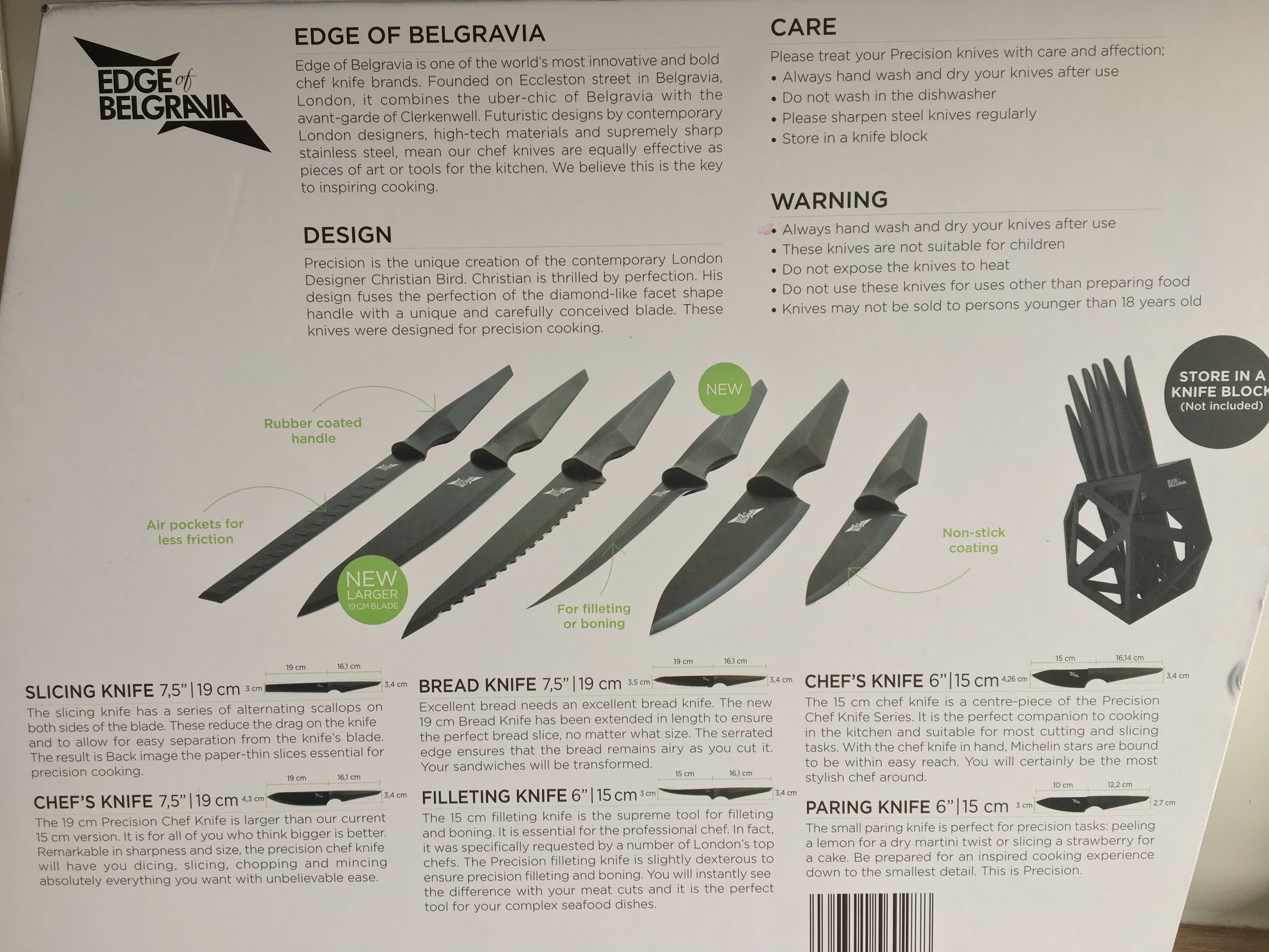 edge of belgravia precision chef knife series competition like i mentioned above these have never been used they are brand new in an unopened box and i am still very tempted to keep them so get sharing