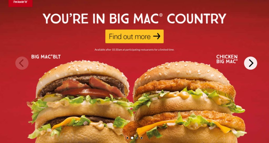 McDonald's Big Mac BLT