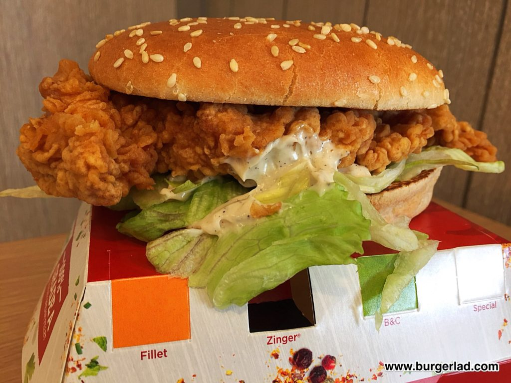 Kfc chicken bun burger