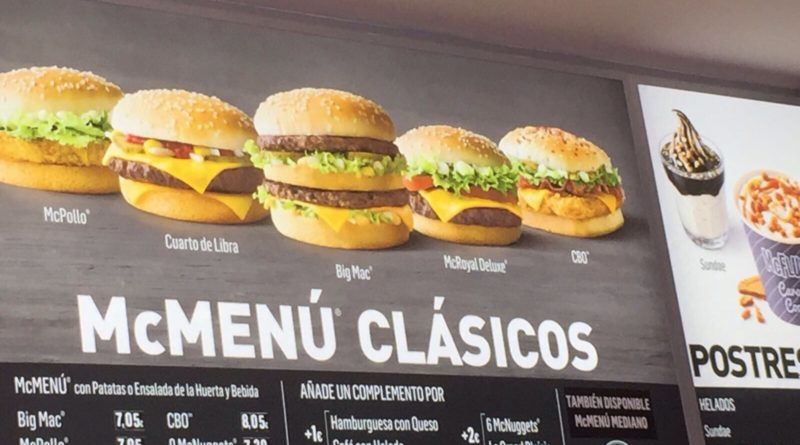 McDonald's Spain Menu Prices
