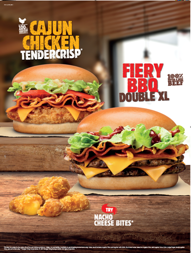 Burger King Summer BBQ Menu 2017