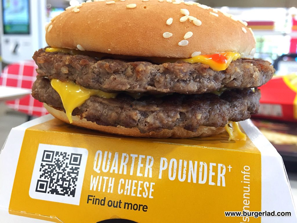 McDonald's Double Quarter Pounder UK