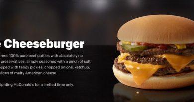 McDonald's Triple Cheeseburger UK