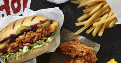 KFC Nashville Hot Burger