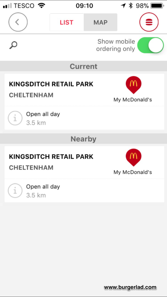 McDonald's Click and Collect