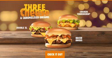 Burger King Three Cheese & Caramelised Onions