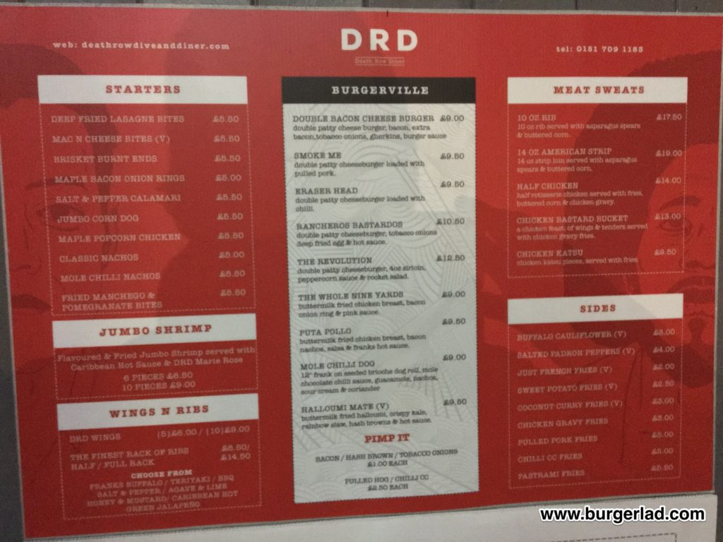 Death Row Diner Double Bacon Cheese Burger