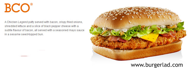 McDonald's BCO Bacon Chicken Onion
