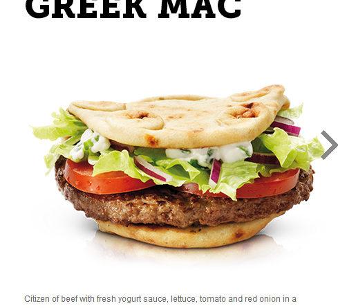 McDonald's Greek Mac