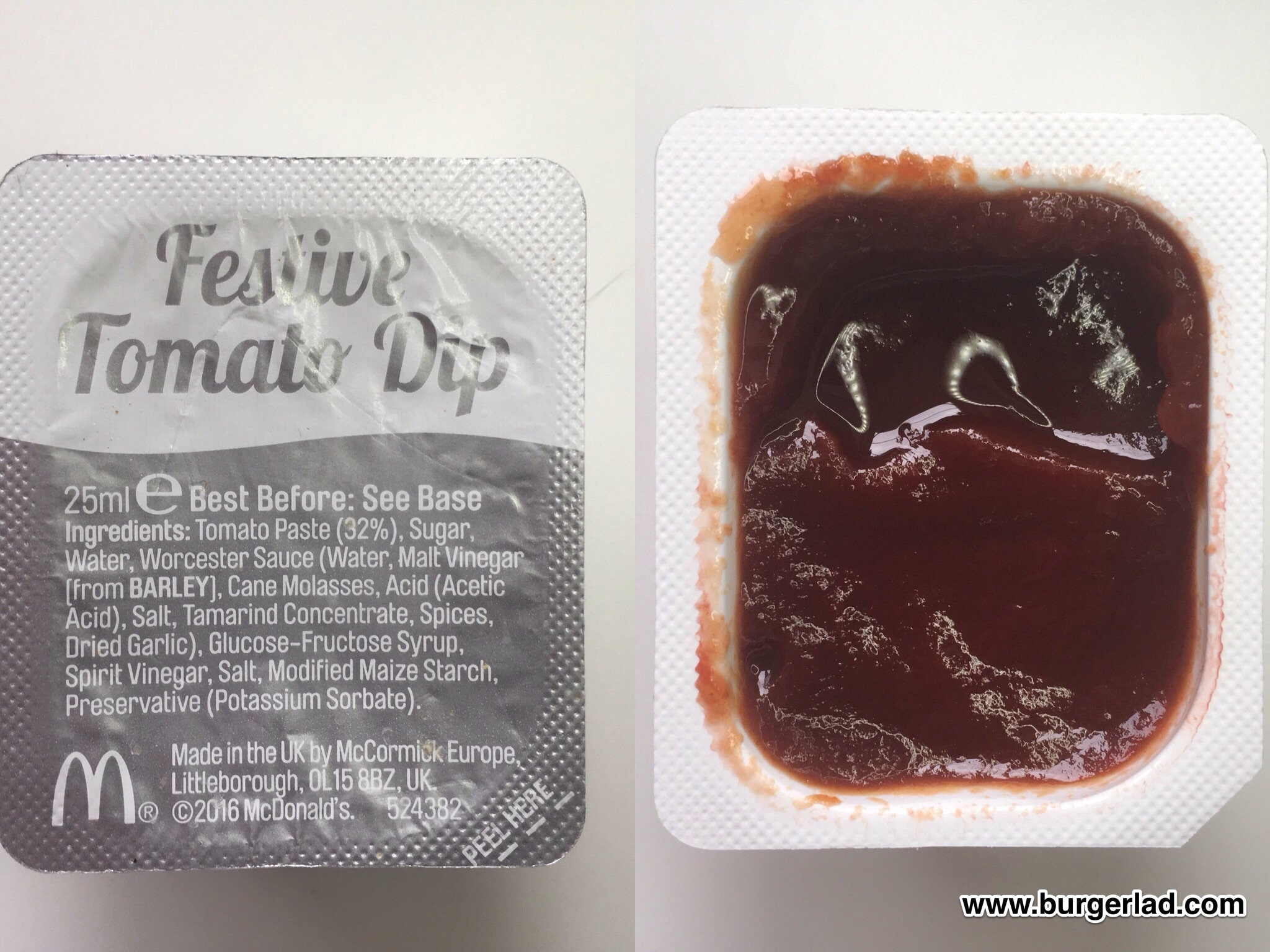 McDonald's Festive Tomato Dip