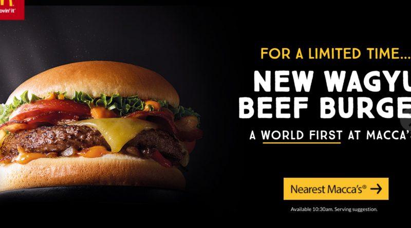 McDonald's Wagyu Beef Burger