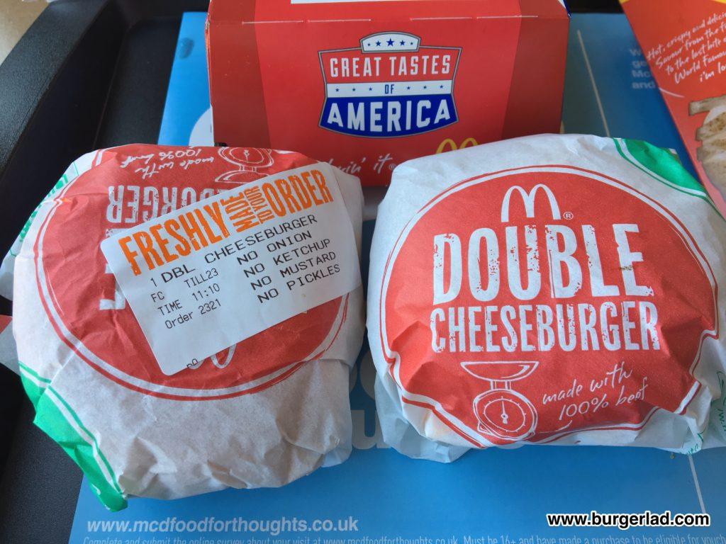 McDonald's Double Cheeseburger