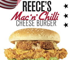 KFC Mac 'n' Chilli Cheese Burger