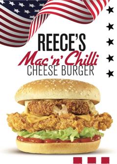 KFC Mac 'n' Chilli Cheese Burger