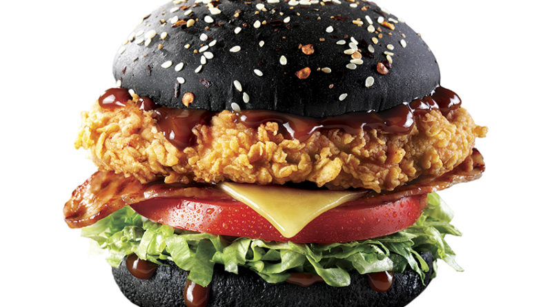 KFC Zinger Black Burger