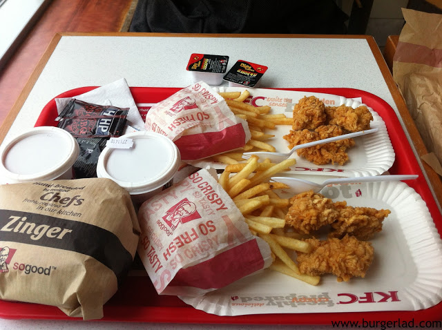 KFC Hot Shots Burger Box Meal