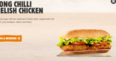 Burger King Long Chilli Relish Chicken