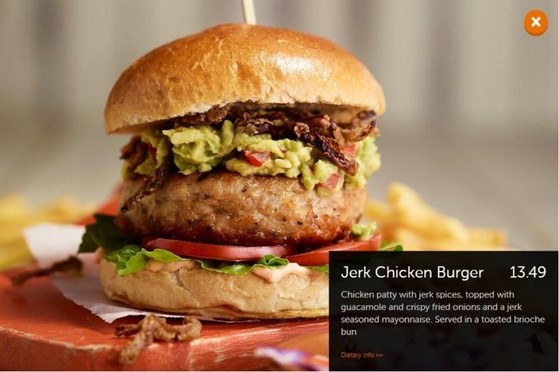 Beefeater Jerk Chicken Burger