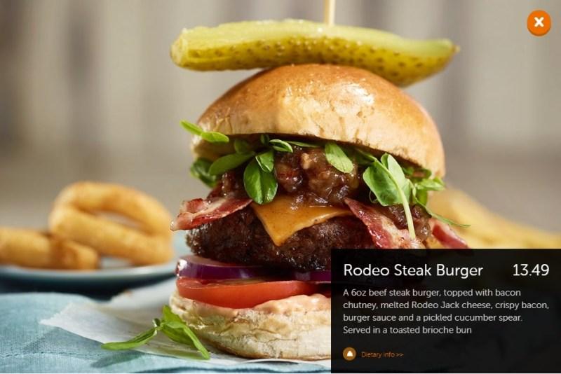 Beefeater Rodeo Steak Burger