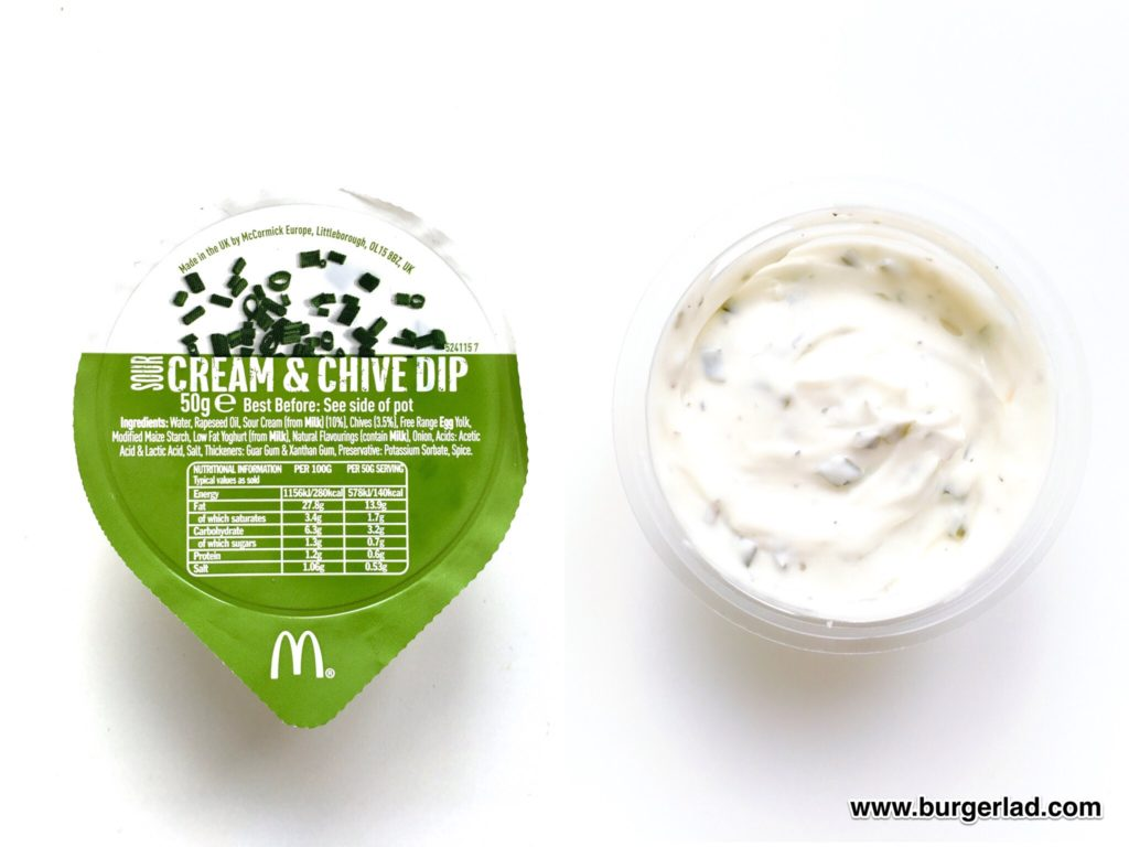McDonald's Cream and Chive Dip