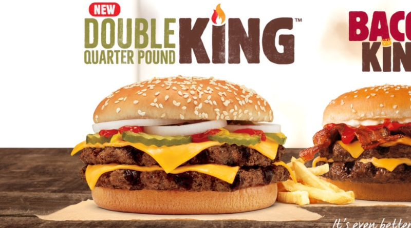 Burger King Double Quarter Pound King UK