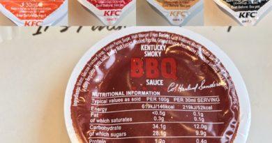 KFC Sauces UK