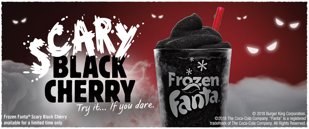 Burger King Scary Black Cherry Frozen Fanta