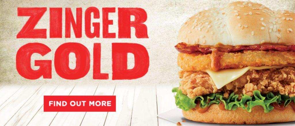 KFC New Zealand Zinger Gold