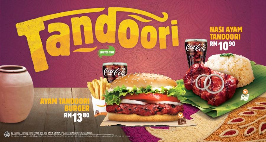Burger King Malaysia Ayam Tandoori Burger