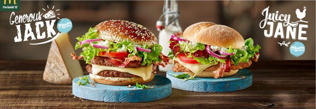 McDonalds's Maestro Burgers - Austria - Generous Jack & Juicy Jane