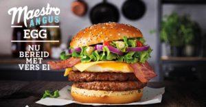 McDonald's Maestro Burgers - Holland - Angus Egg