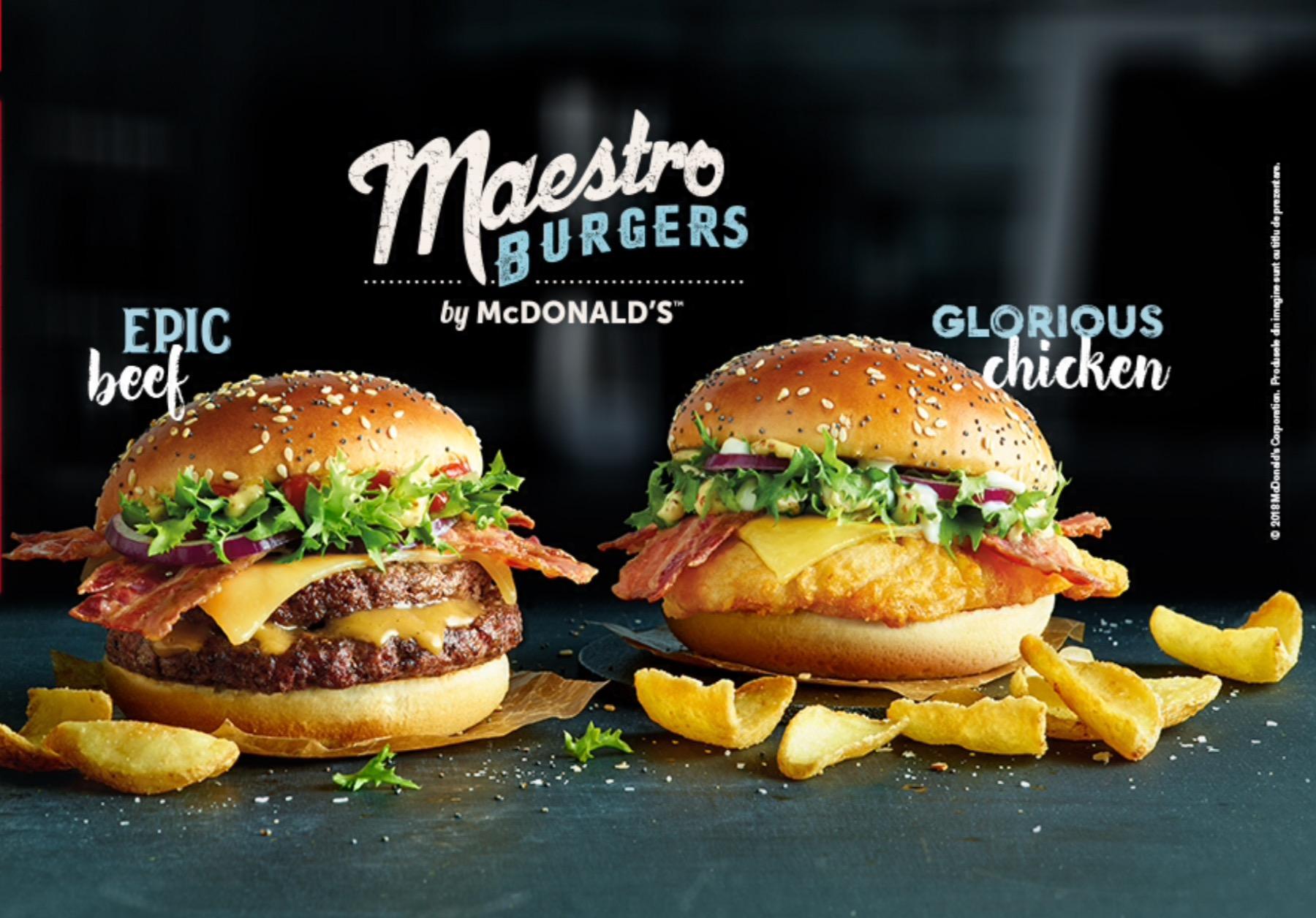 McDonald's Maestro Burgers - Romania - Epic Beef & Glorious Chicken