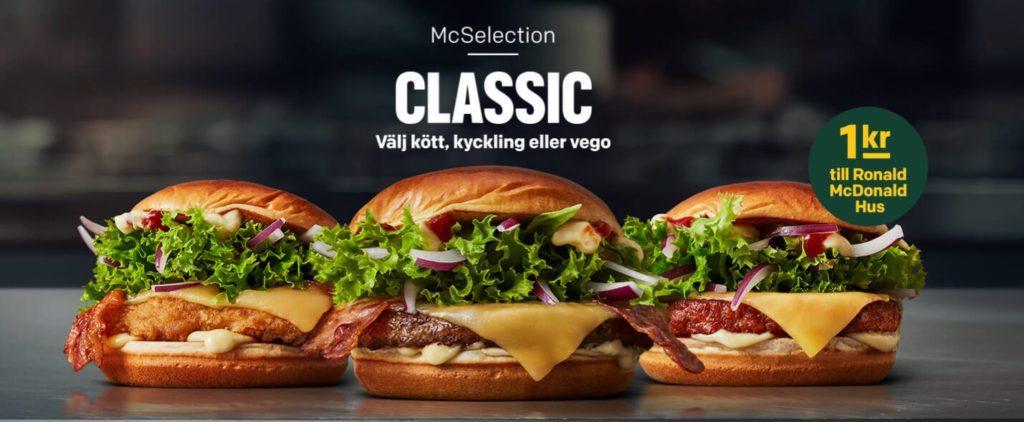 McDonald's Sweden McSelection Classic