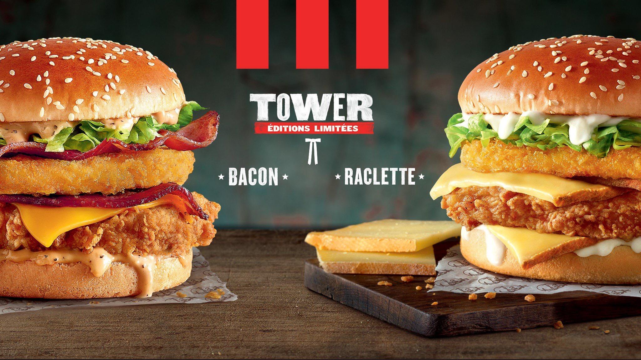 KFC France - Raclette Tower Burger
