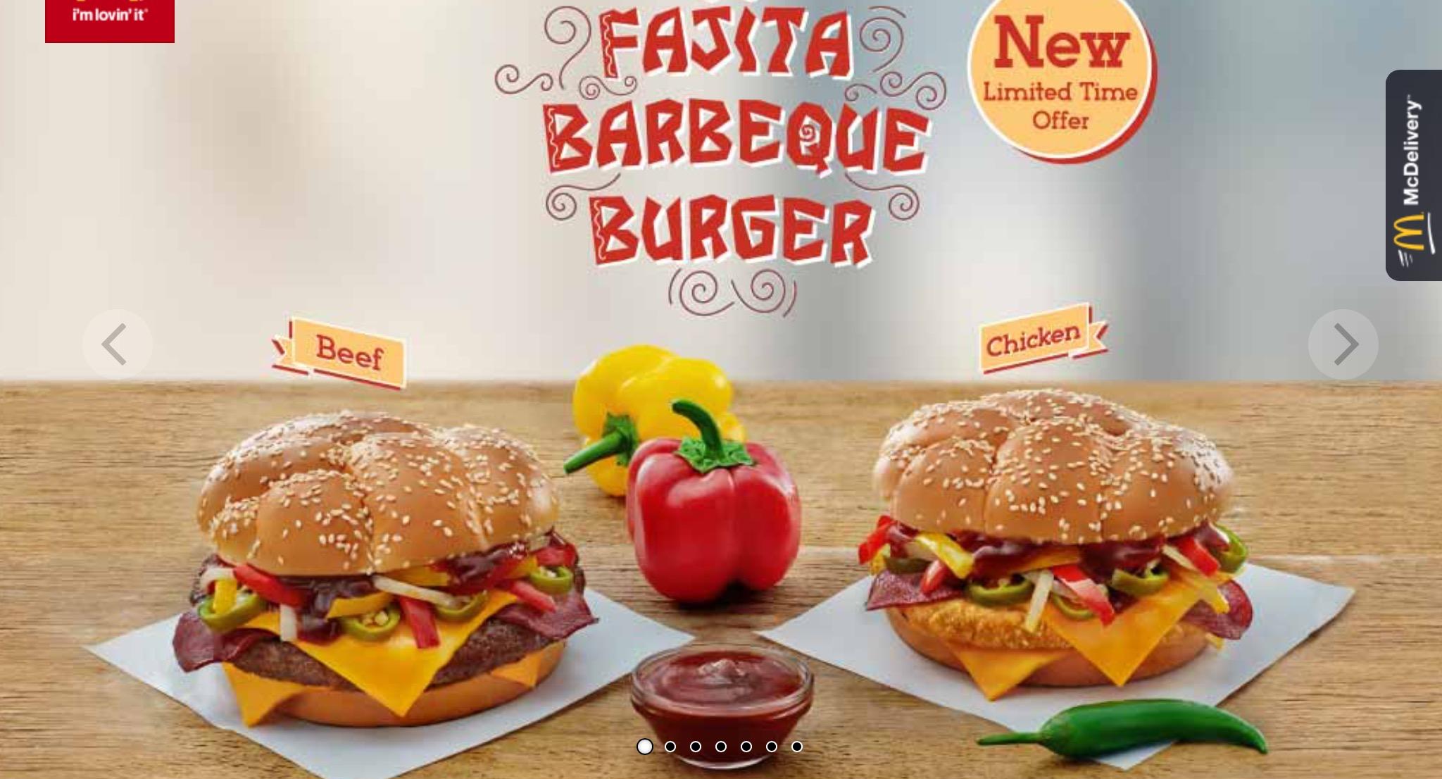 McDonald's Egypt - Fajita Barbecue Burger