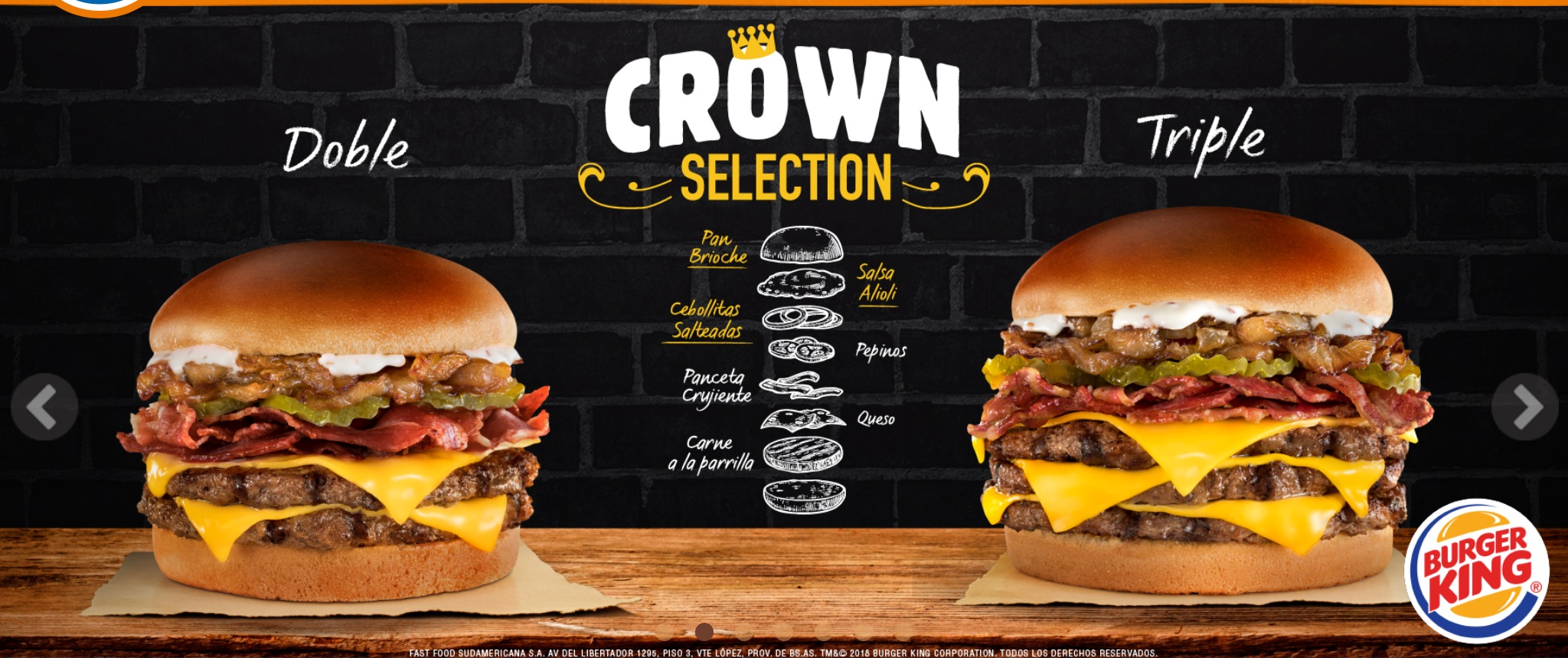 Burger King Argentina - Crown Selection