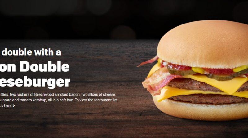 McDonald's Bacon Double Cheeseburger