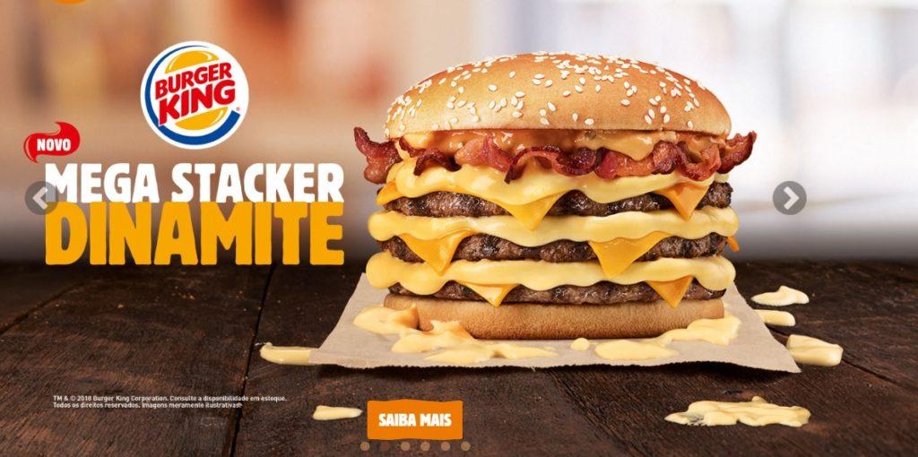 Burger King Brazil Mega Stacker Dinamite