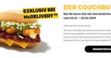 McDonald's Couchburger