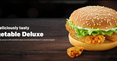 McDonald's Vegetable Deluxe New 2019