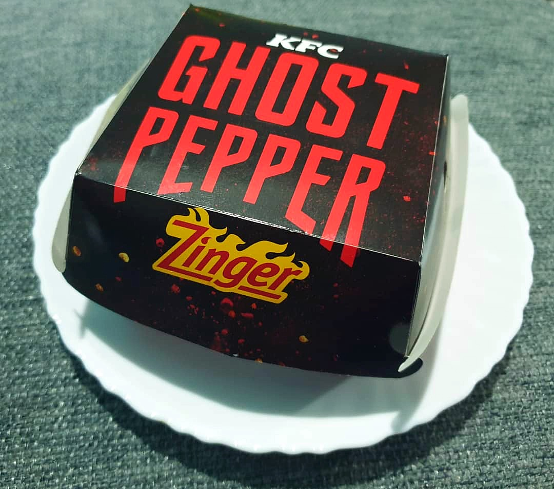 KFC Ghost Pepper Zinger Burger
