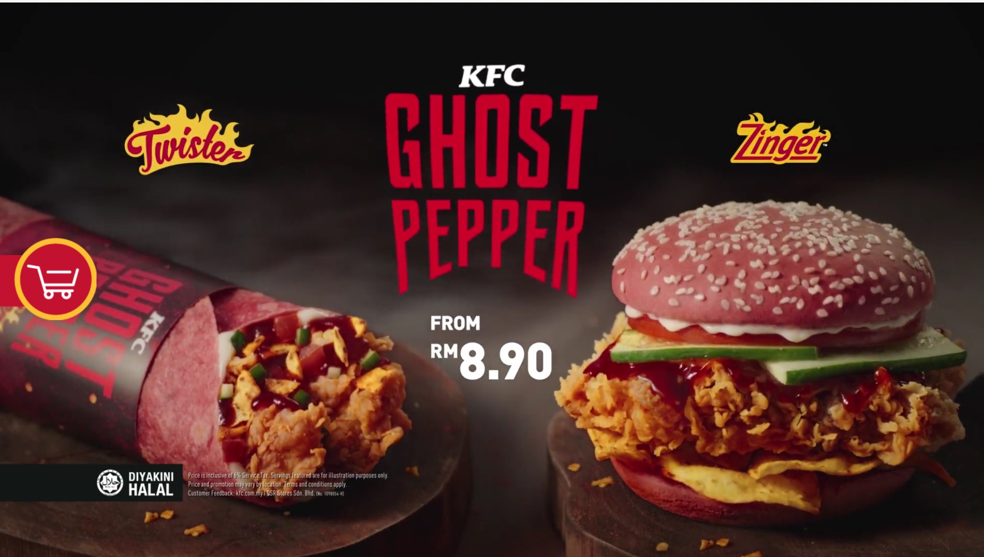 KFC Ghost Pepper Zinger